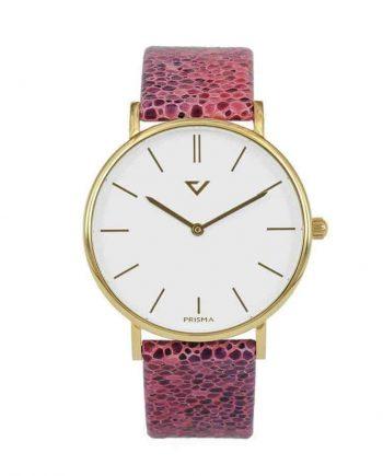 prisma 100% NL horloge roze prisma 100%NL horloges special edition P1628-736G Prisma 100NL roze horloge online kopen voorkant