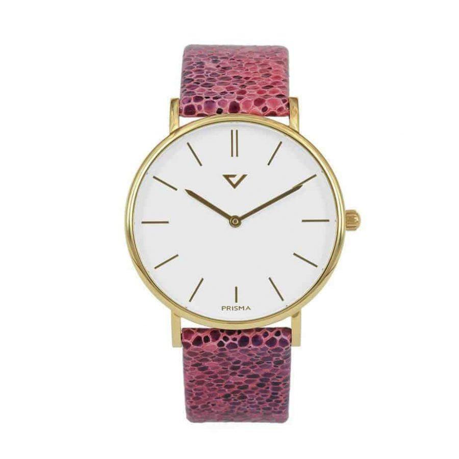 prisma 100%NL horloge roze prisma horloges special edition P1628-736G Prisma 100NL roze horloge online kopen voorkant