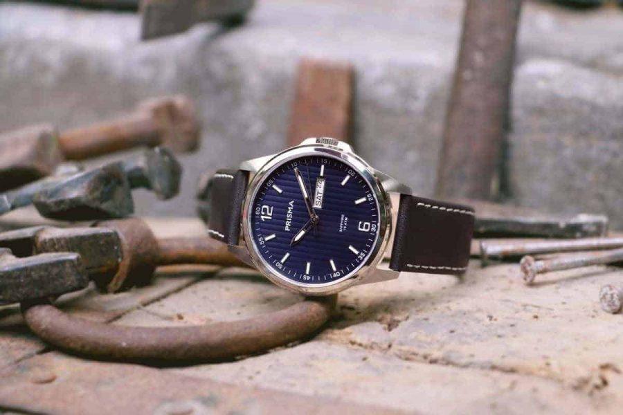 Prisma-Horloge-Pattern-Leder-blauw-nieuw-werkhorloge-kwaliteitshorloge-Nederlands-horlogemerk-Prisma-watch-watches