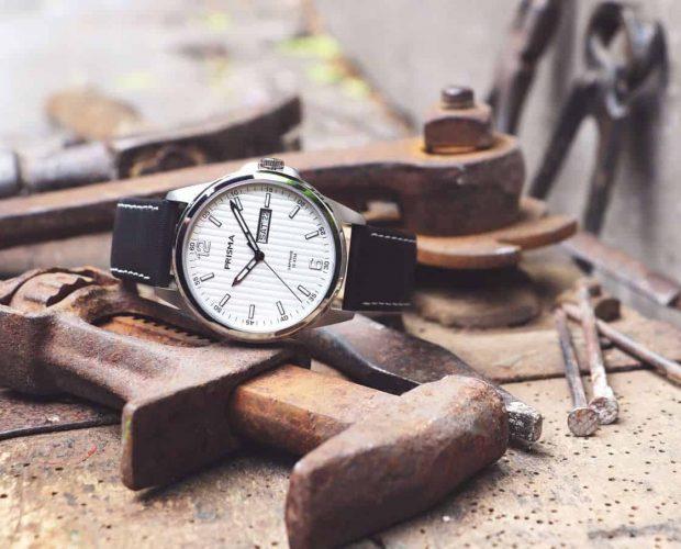 Prisma-Horloge-Pattern-Leder-wit-nieuw-werkhorloge-kwaliteitshorloge-Nederlands-horlogemerk-Prisma watch watches