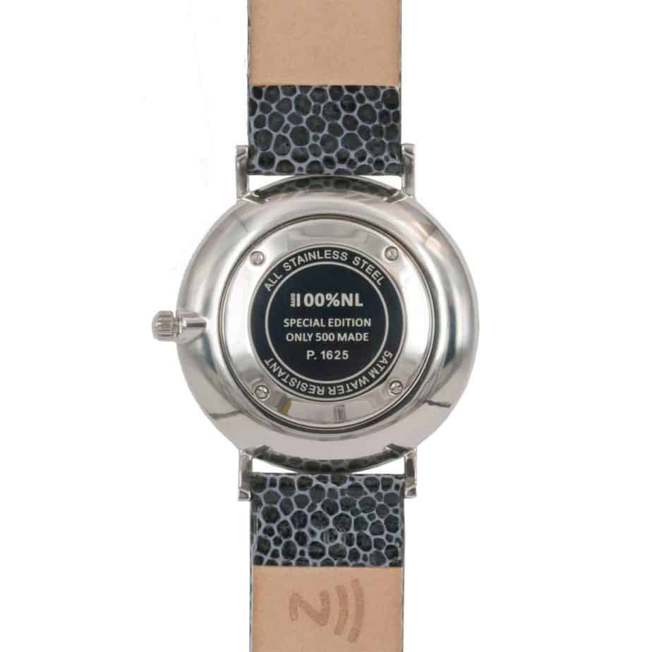 prisma 100%NL horloge zwart prisma horloges special edition P1625-136G Prisma 100NL zwart horloge online kopen achterkant