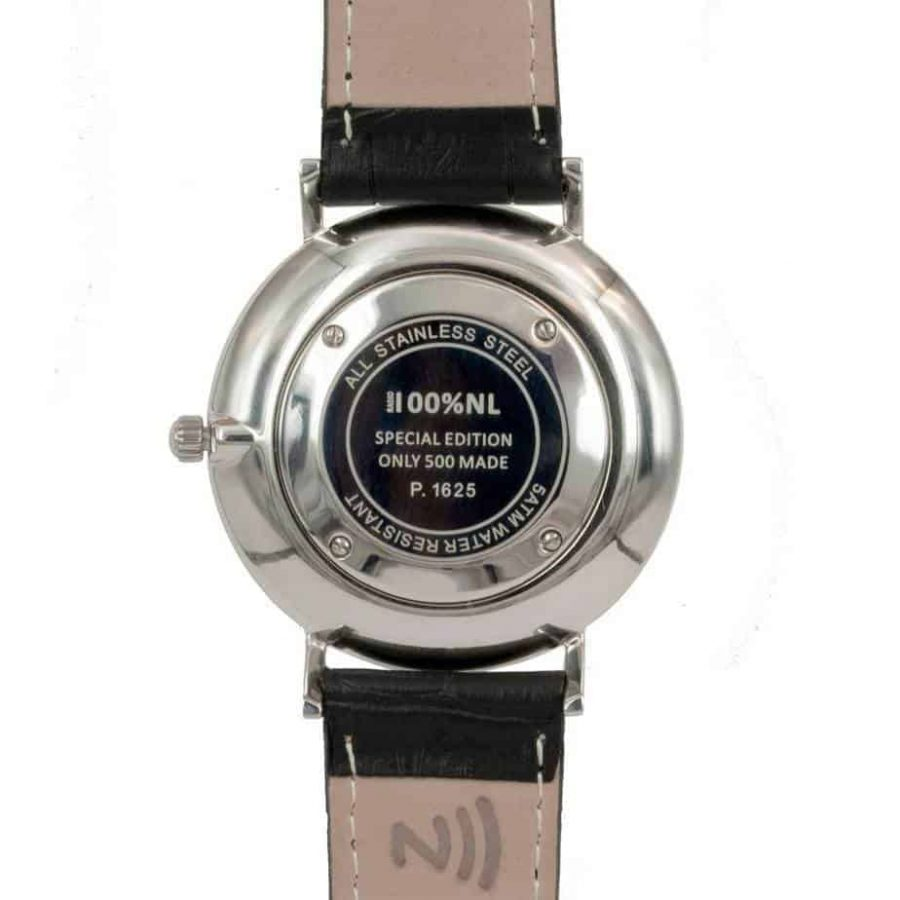 prisma Radio 100%NL horloge zwart prisma horloges special edition P1625-141G Prisma 100NL zwart horloge online kopen achterkant