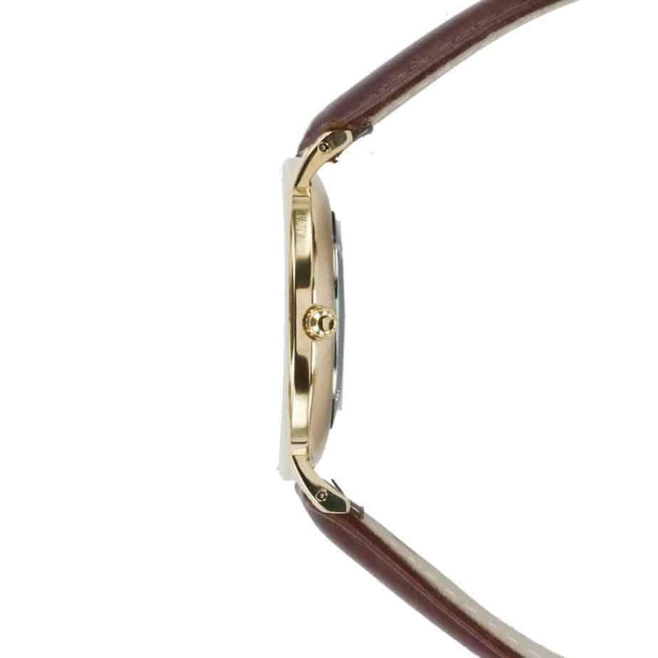 prisma Radio 100%NL horloge bruin prisma horloges special edition P1628-418G Prisma 100NL bruin horloge online kopen zijkant
