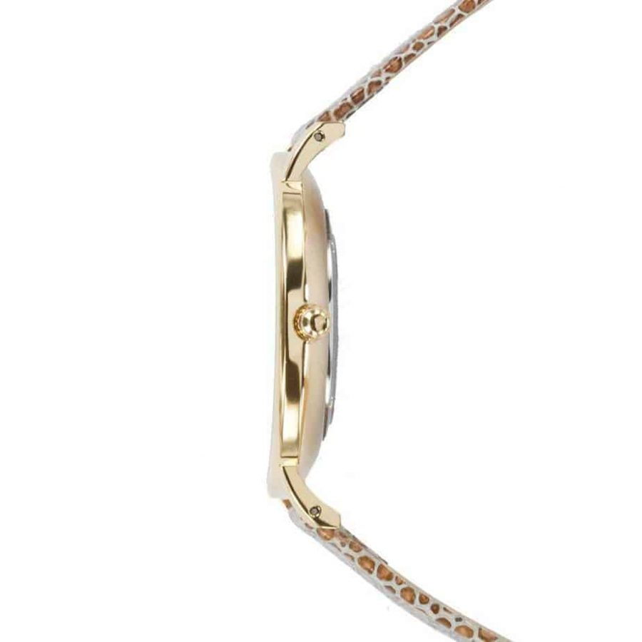 prisma 100%NL horloge beige prisma horloges special edition P1628-856G Prisma 100NL horloge online kopen zijkant