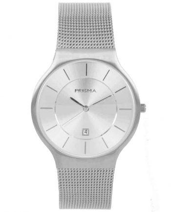 PRISMA P1800 HORLOGE HEREN ZILVER EDELSTAAL ICON nederlands horlogemerk