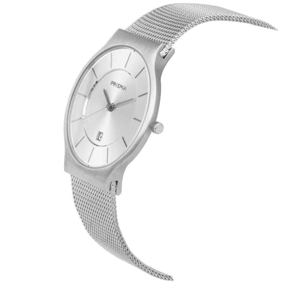 PRISMA P1800 HORLOGE HEREN ZILVER EDELSTAAL ICON dutch watch brand