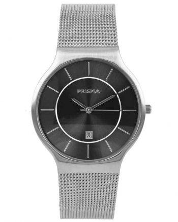 PRISMA P1801 HORLOGE HEREN ZILVER EDELSTAAL nederlands horlogemerk