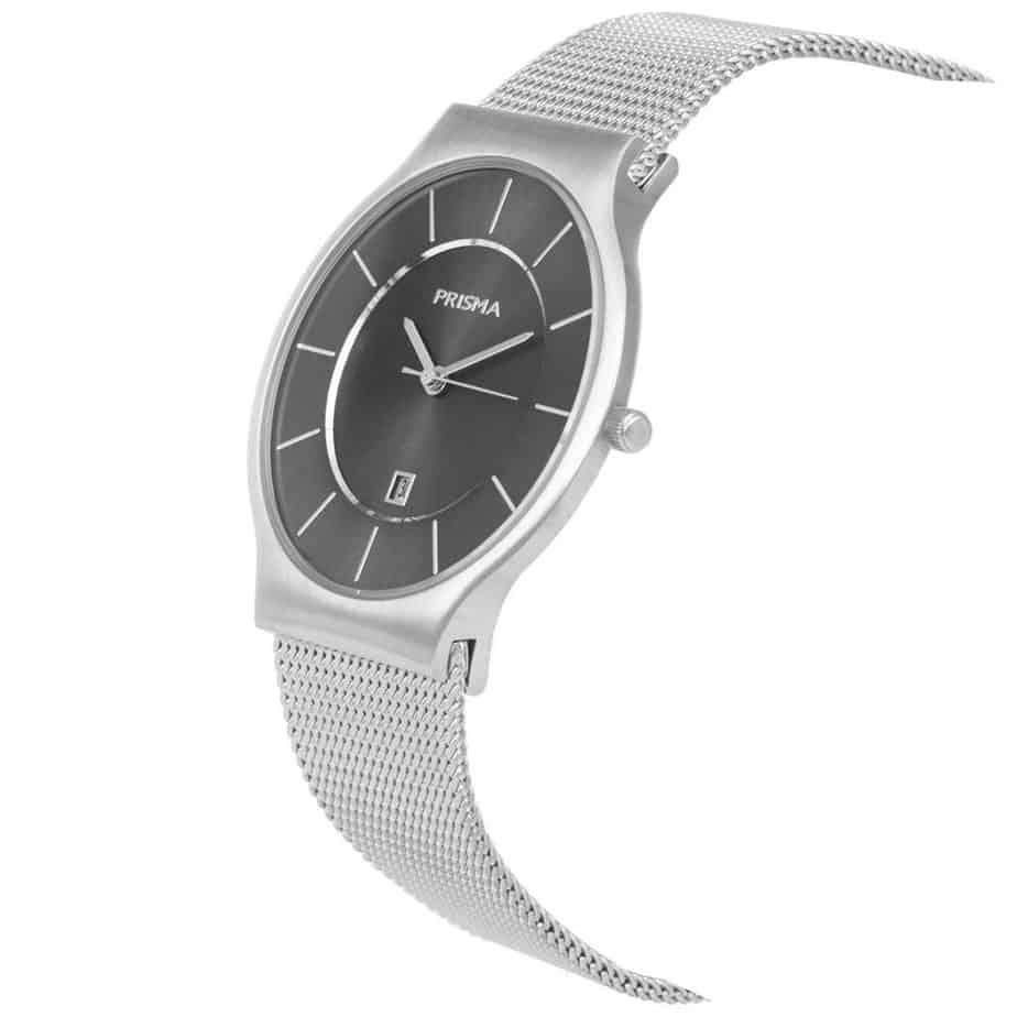 PRISMA P1801 HORLOGE HEREN ZILVER EDELSTAAL dutch watch brand