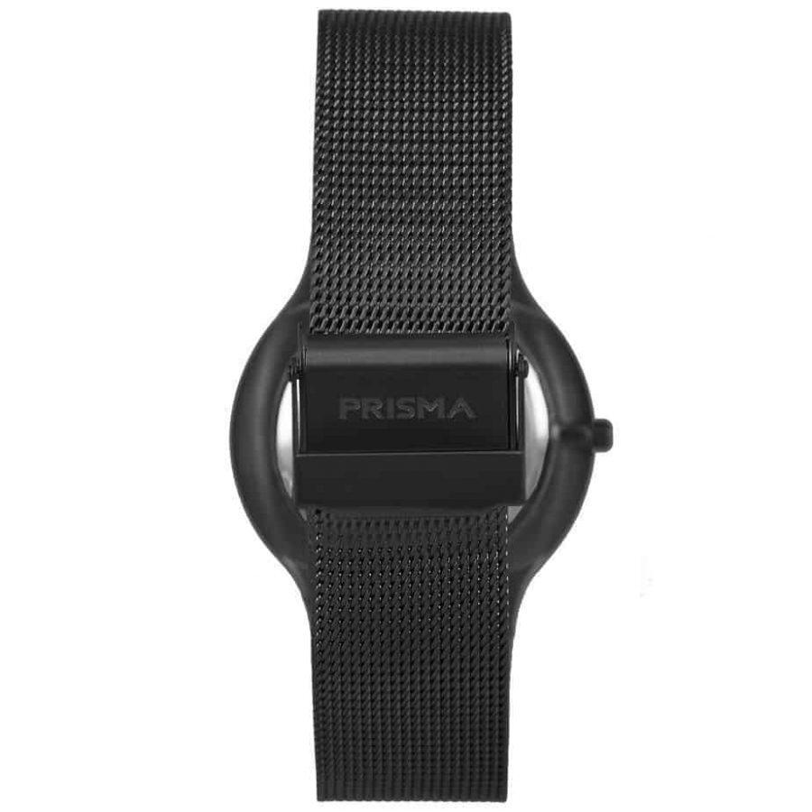 Prisma-P1802-horloge-heren-zwart-edelstaal-achterkant