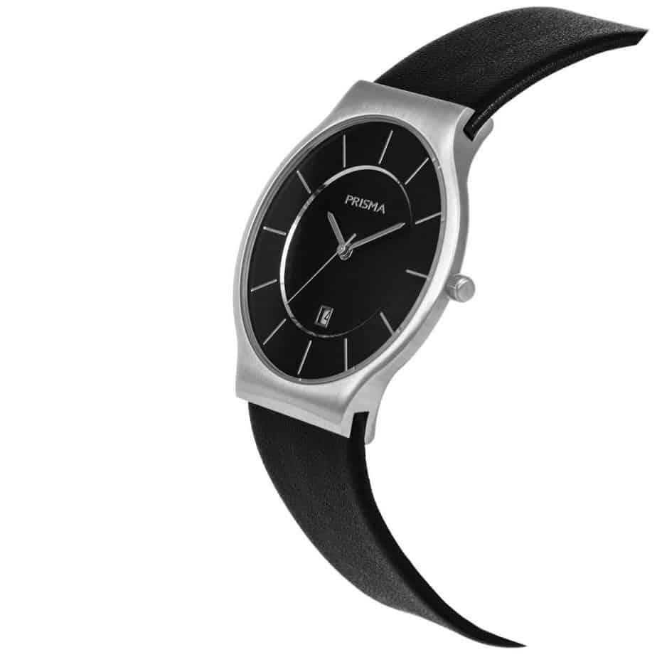 PRISMA P1805 HORLOGE HEREN ZILVER EDELSTAAL dutch watch brand