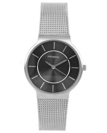 PRISMA P1807 HORLOGE DAMES ZILVER EDELSTAAL nederlands horlogemerk