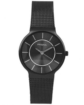 PRISMA P1808 HORLOGE DAMES ZWART EDELSTAAL Nederlands horlogemerk