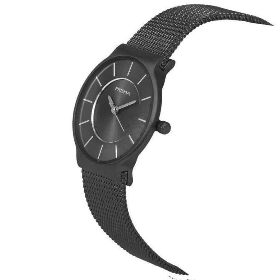 PRISMA P1808 HORLOGE DAMES ZWART EDELSTAAL dutch watch brand
