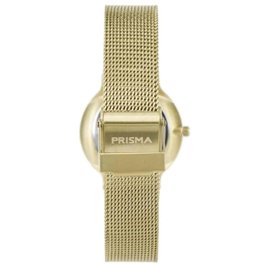Prisma-P1809-horloge-dames-goud-edelstaal-achterkant