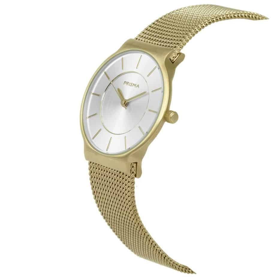 Prisma P1809 horloge dames goud edelstaal ladies watch dutch watch brand