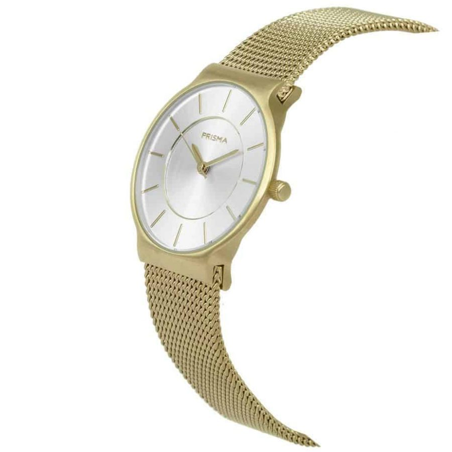 Prisma P1809 horloge dames goud edelstaal ladies watch dutch watch brand