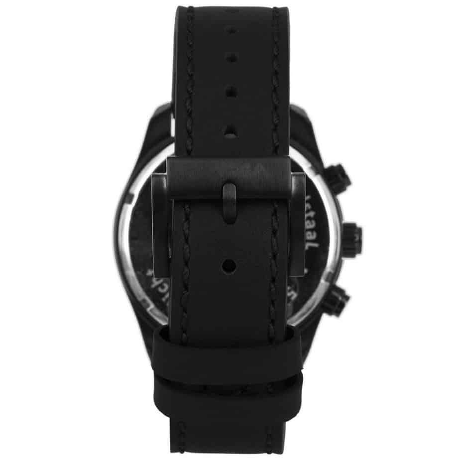 Prisma-P1826-heren-horloge-chronograaf-zwart-leer-achterkant