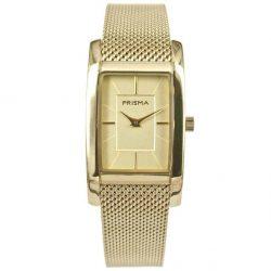 Prisma P1837 dames horloge milanees goud vierkant Atone