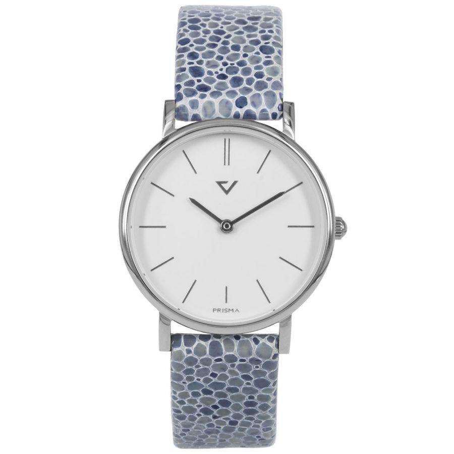 Prisma-P1866-dames-horloge-100NL-zilver-lila