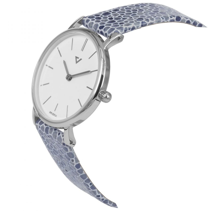 Prisma-P1866-dames-horloge-100NL-zilver-lila-schuin