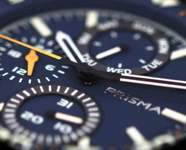 prisma horloge aviator watch edition blauw horloge herenhorloge aviator horloge
