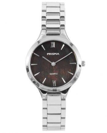 prisma p1461 dames horloge edelstaal zilver parelmoer