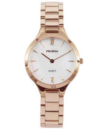prisma p1463 dames horloge edelstaal rosegoud parelmoer rosegold ladies watch nederlands horlogemerk