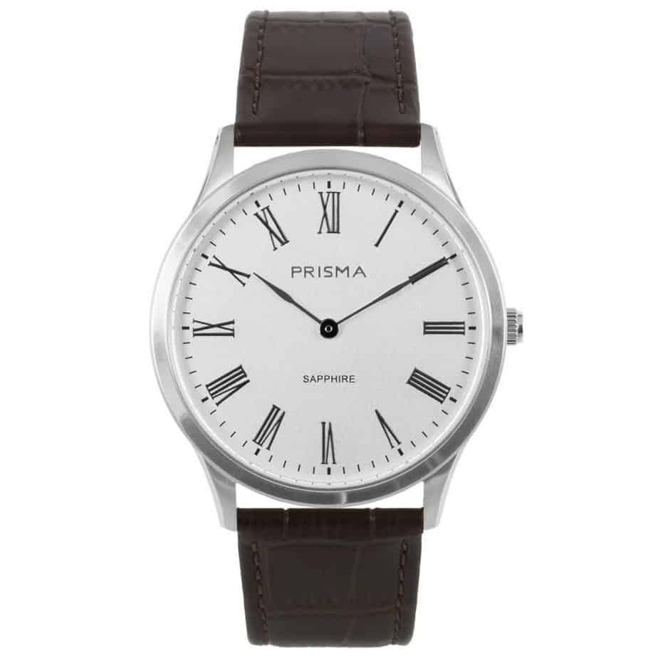 prisma p1886 heren horloge slimline edelstaal zilver