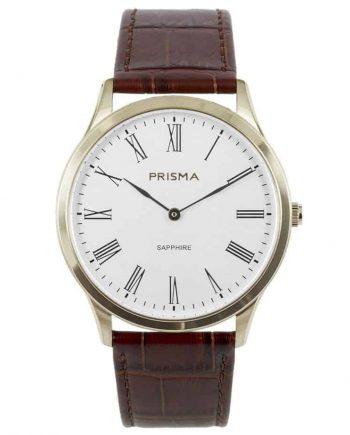 prisma p1887 heren horloge slimline edelstaal goud