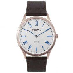 prisma p1888 heren horloge slimline rosegoud edelstaal
