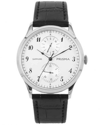 prisma p1900 heren horloge edelstaal zilver datum horloges watches silver heren men dutch watch brand nederlands horlogemerk