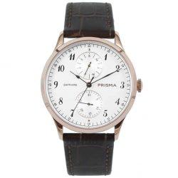 prisma p1902 heren horloge edelstaal rosegoud datum horloges watches rosegold heren men dutch watch brand nederlands horlogemerk