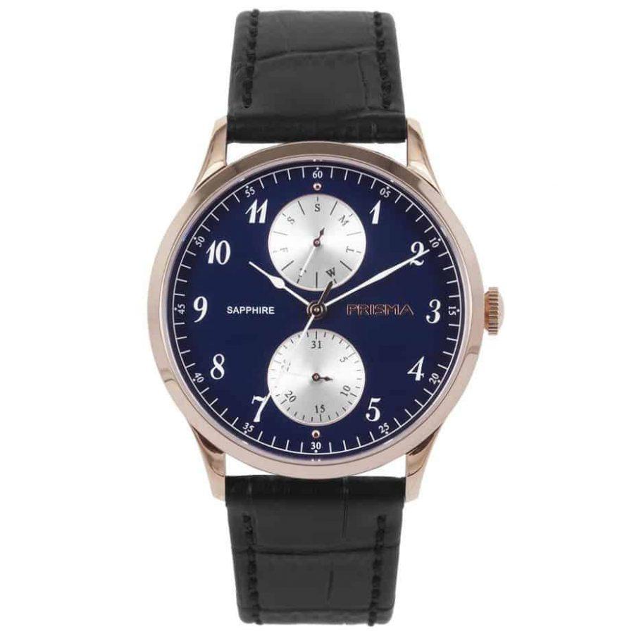 prisma p1903 heren horloge edelstaal rosegoud datum horloges watches rosegold heren men dutch watch brand nederlands horlogemerk
