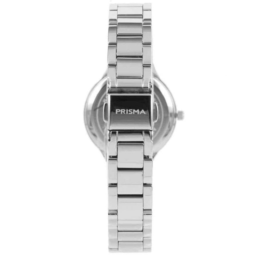 Prisma P1461 dames horloge edelstaal zilver parelmoer achterkant