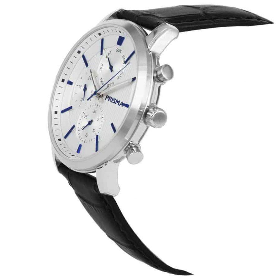 Prisma 1580 Refined wit white P1580 heren-horloge-edelstaal-schuin