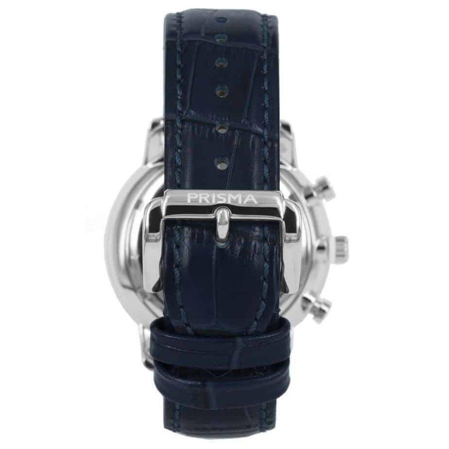 Prisma-P1589-heren-horloge-edelstaal-blauw-achterkant