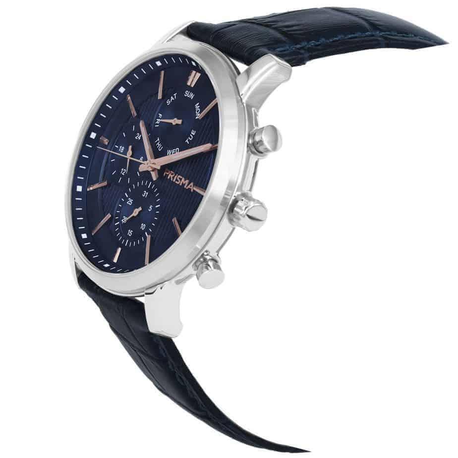Prisma-P1589-heren-horloge-edelstaal-blauw-schuin