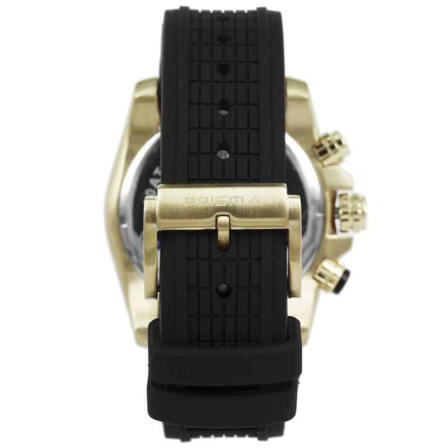Prisma-P1594-heren-horloge-edelstaal-chronograaf-goud-achterkant-l
