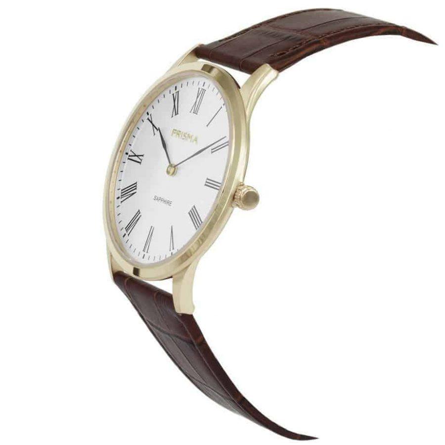 Prisma-P1887-heren-horloge-slimline-edelstaal-goud-schuin-l