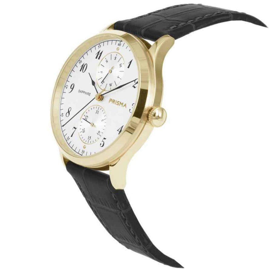Prisma-P1901-heren-horloge-edelstaal-goud-datum-schuin-l