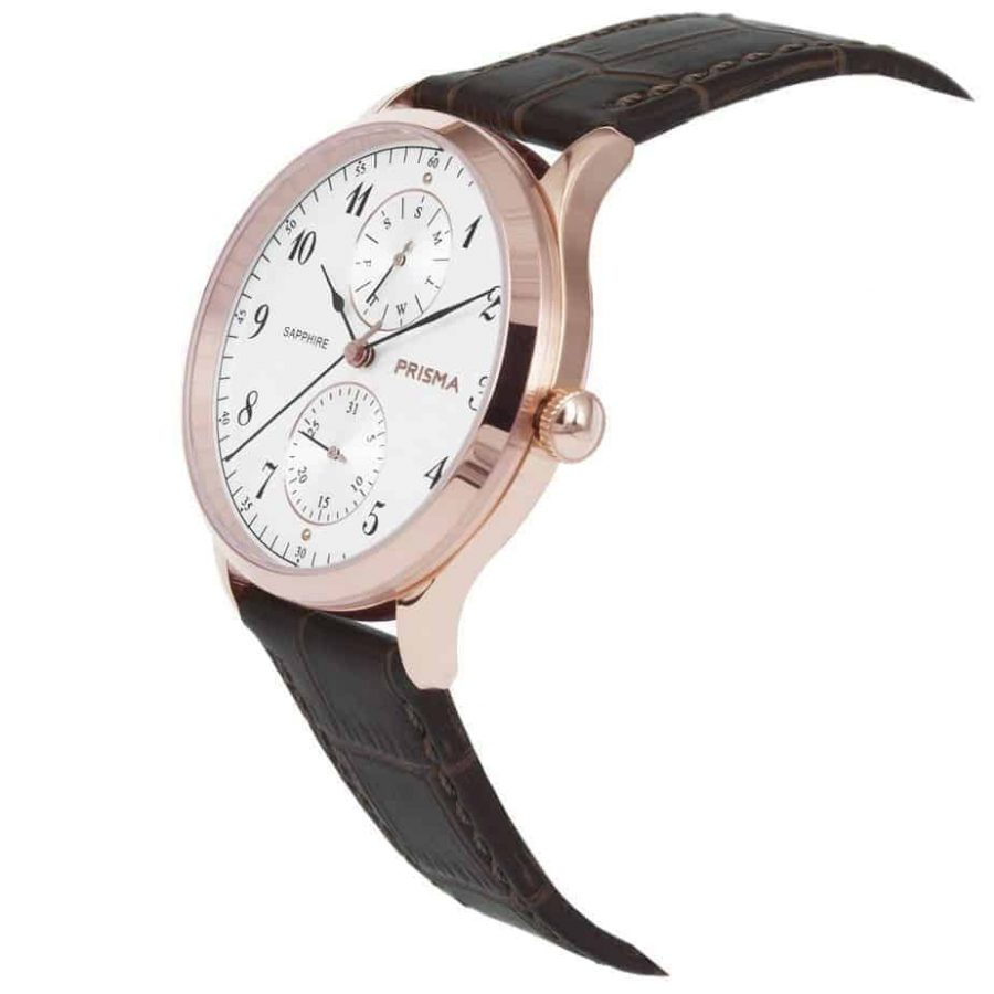 Prisma-P1902-heren-horloge-edelstaal-rosegoud-datum-schuin-l