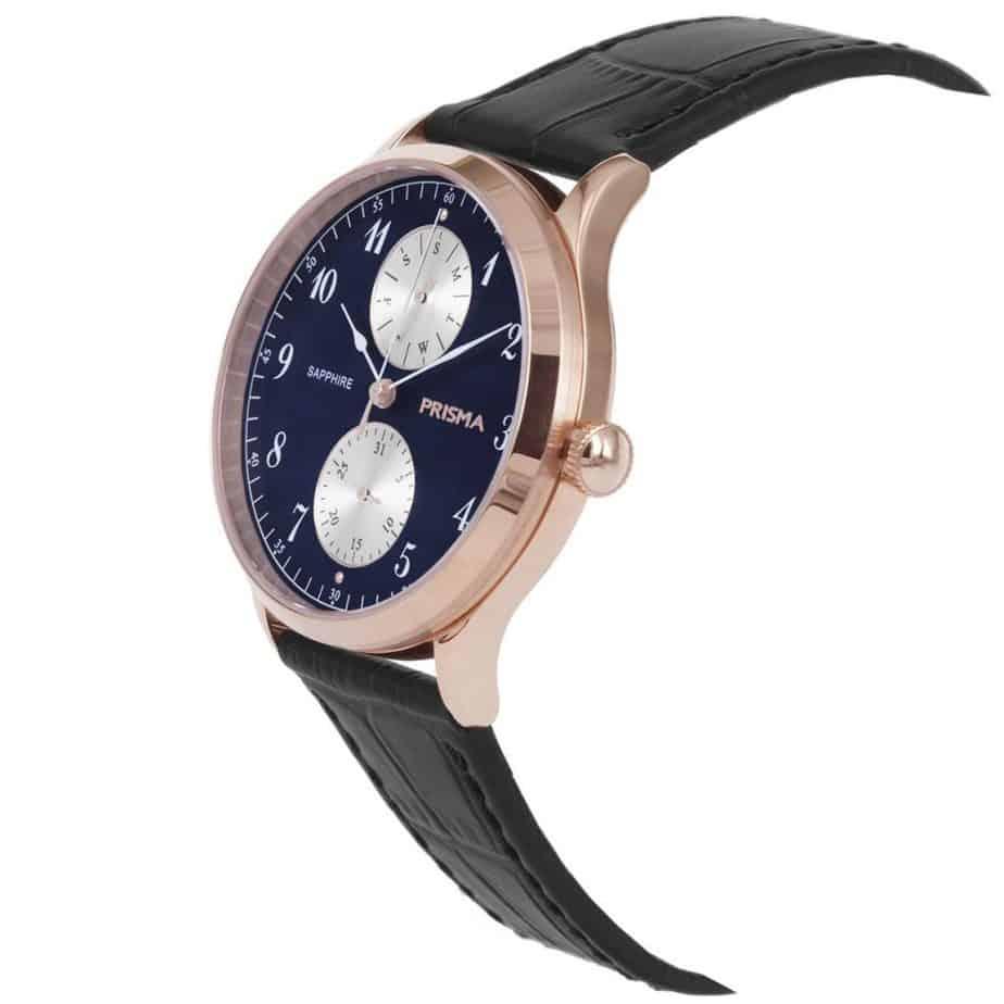 Prisma-P1903-heren-horloge-edelstaal-rosegoud-schuin-l
