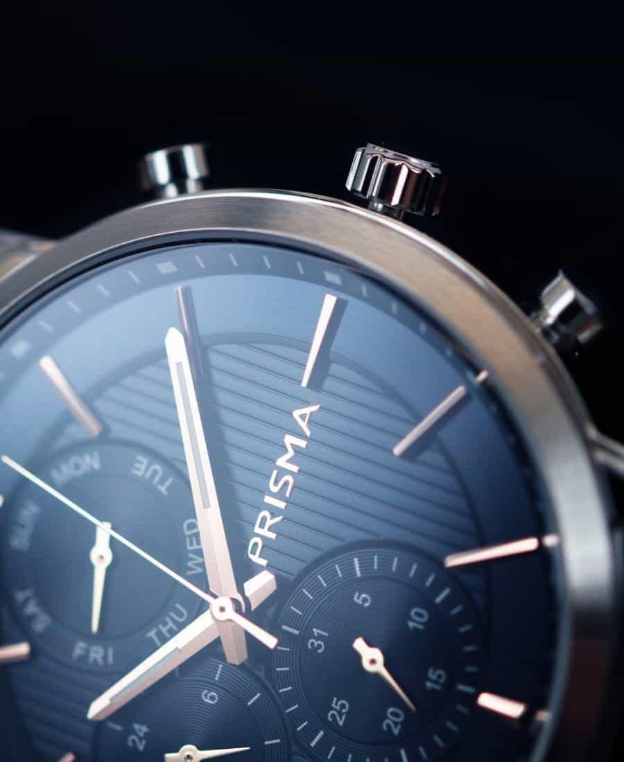 blauw prisma horloge traveller refined blue watches nederlands horlogemerk dutch watch brand