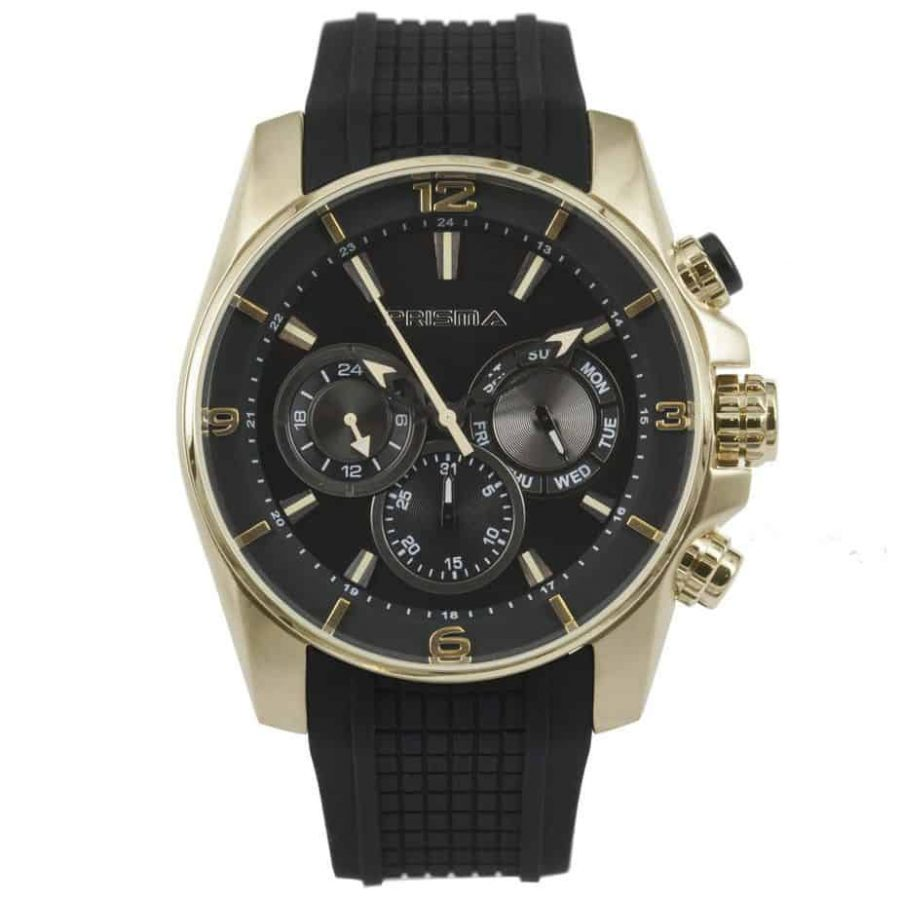 Prisma P1594 heren horloge chronograaf goud watches chronograph