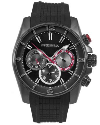 Prisma P1596 heren horloge chronograaf zwart black watches chronograph