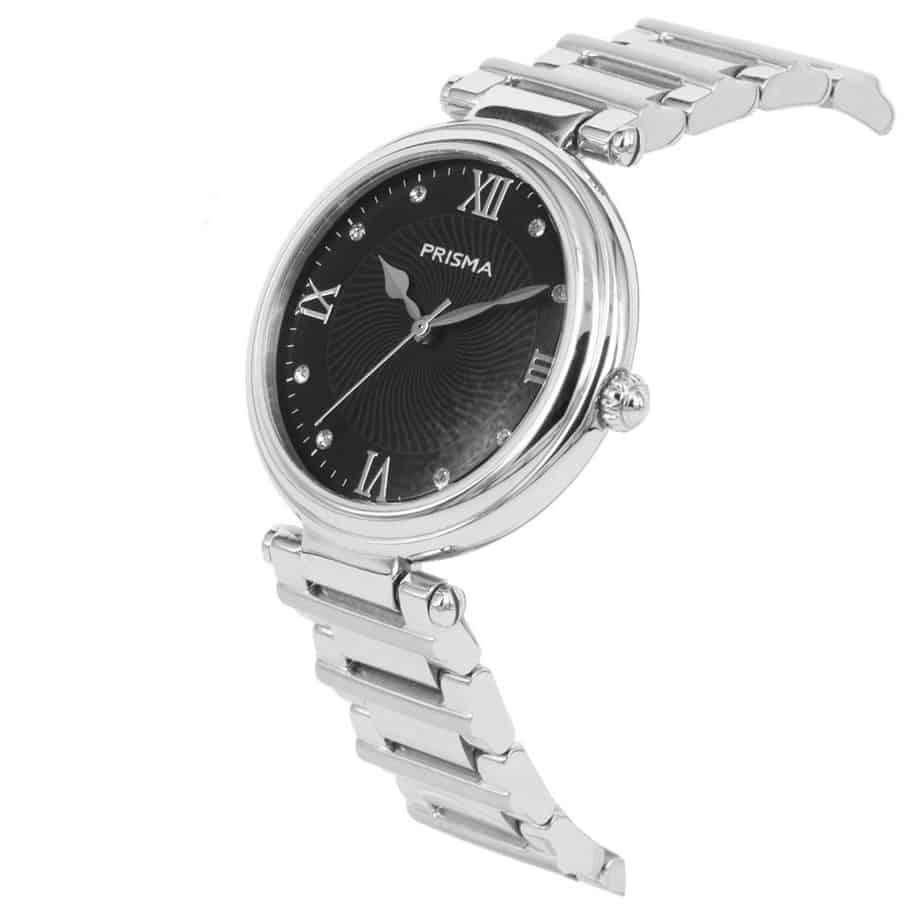 Prisma P1451 dames horloge edelstaal zilver zwitsers Royal Constant Watch