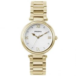 Prisma P1452 dames horloge edelstaal goud zwitsers royal constant gold watch
