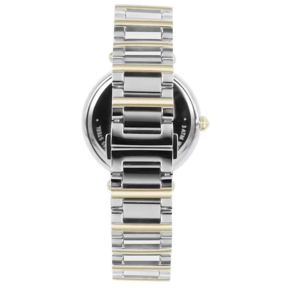 Prisma P1453 dames horloge edelstaal bicolor zwitsers achterkant