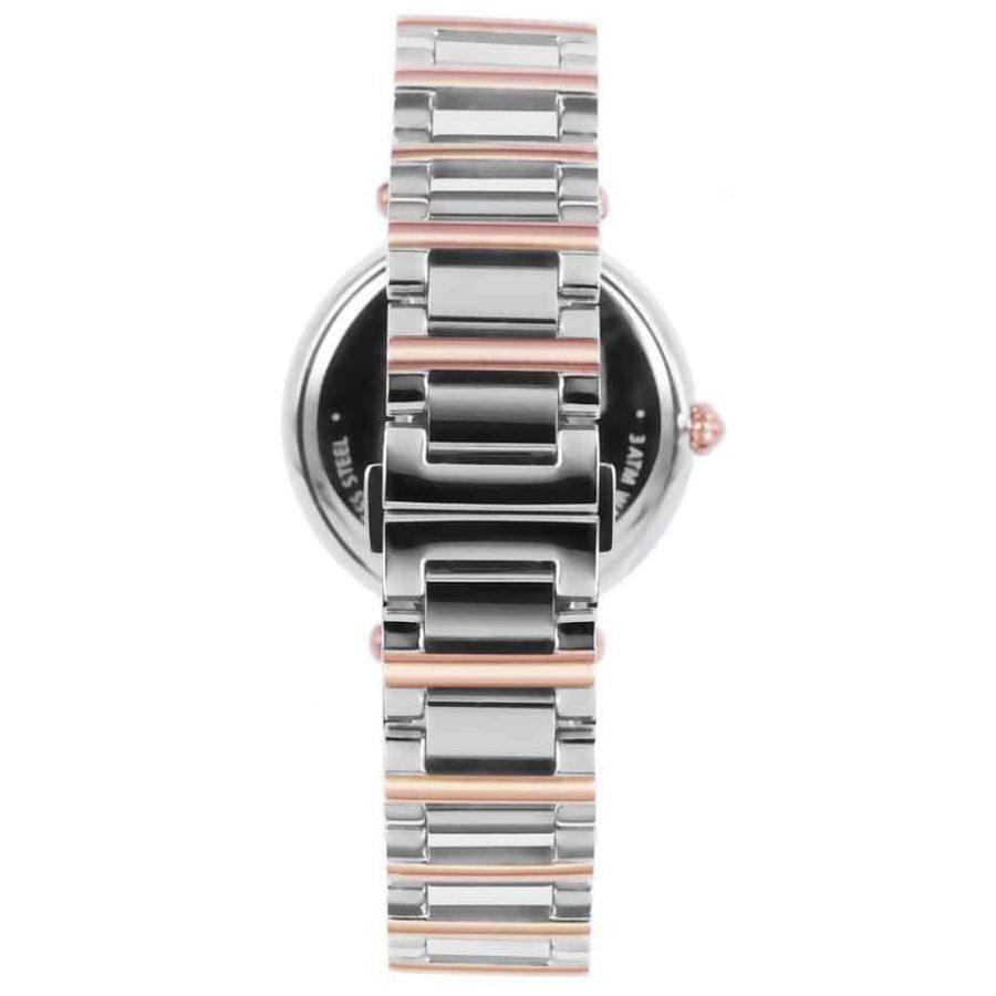 Prism P1454 dames horloges edelstaal bicolor zwitsers royal constant rosegold achter