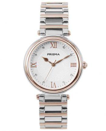 Prism P1454 dames horloges edelstaal bicolor zwitsers royal constant rosegold